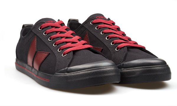 ELIOT BLACK/WINE RED