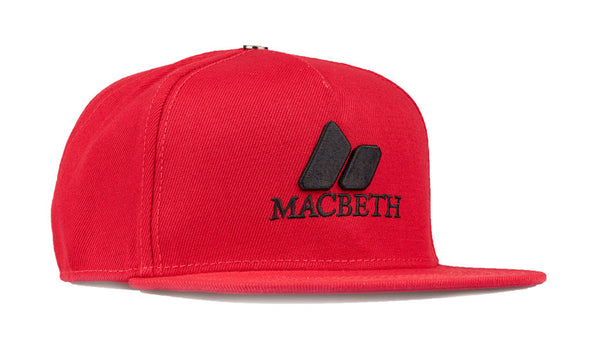 MACBETH Snapback - Pennant Macbeth Red