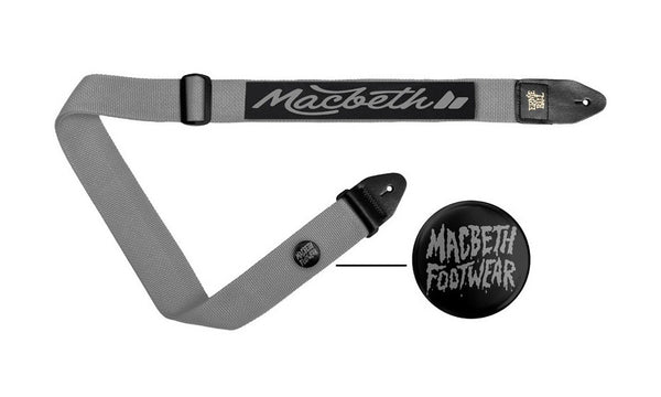 MARLEY GUITAR STRAP LIGHT GREY/BLACK