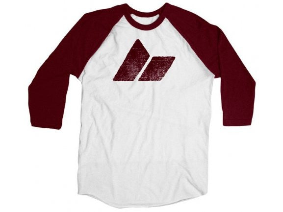 Classic Logo Baseball Tee - White/ox blood