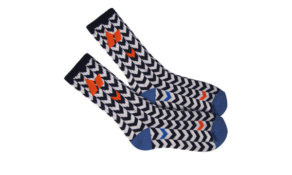 OTIS CREW SOCKS BLACK/CEMENT
