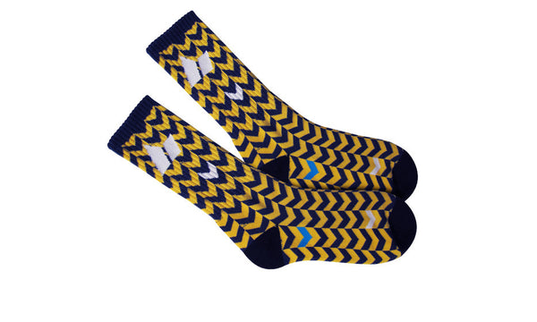 OTIS CREW SOCKS OCHRE/MIDNIGHT