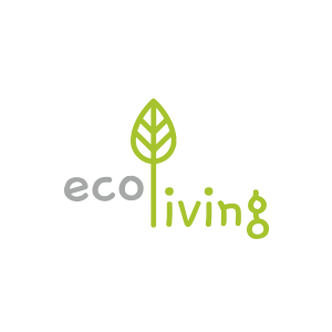 Eco living logo on green network store