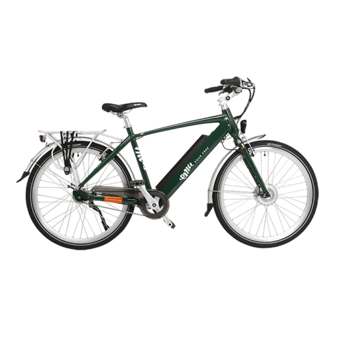 Emu Crossbar Electric Bike in Racing Green with Battery, 10.4Ah