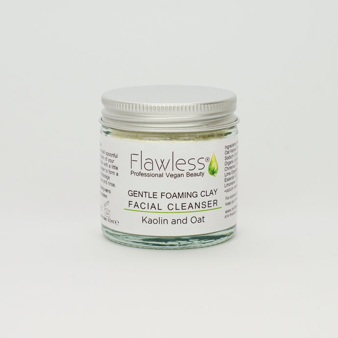Gentle Foaming Clay Facial Cleanser with Bamboo Spoon