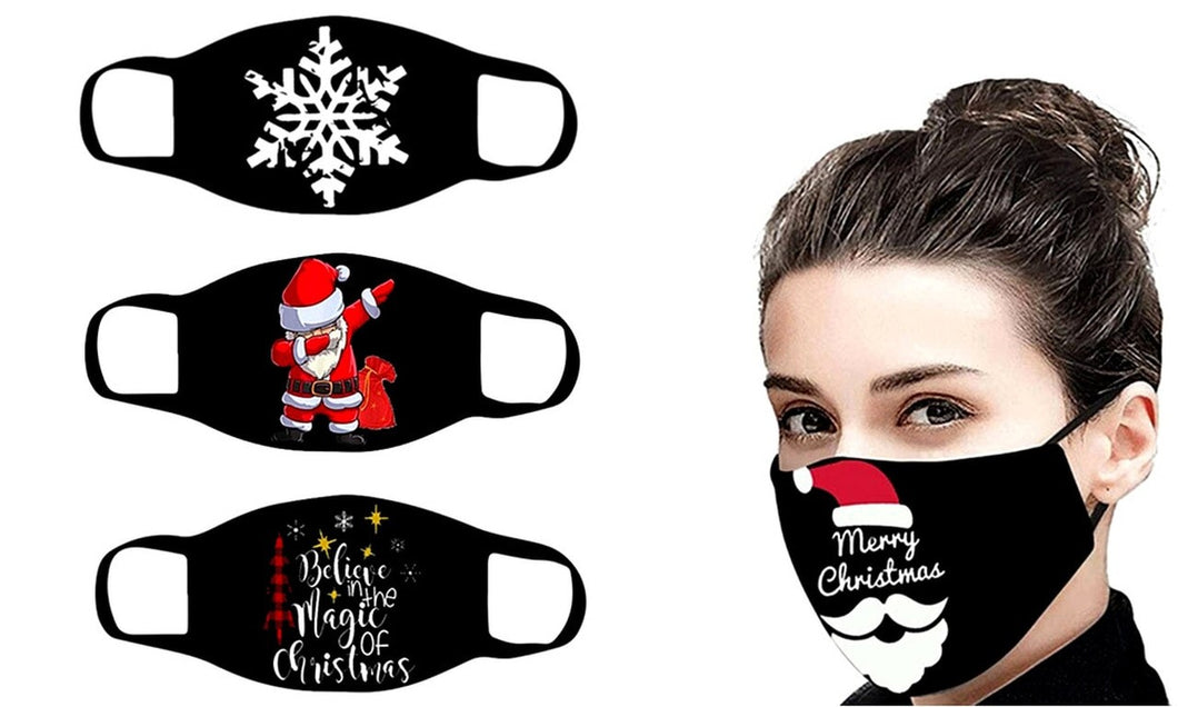 Mixed Christmas Reusable 3-layer Cotton Masks