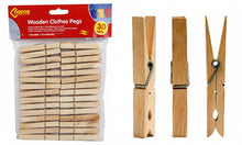 Load image into Gallery viewer, Wooden Clothes Pegs (Pack of 30)