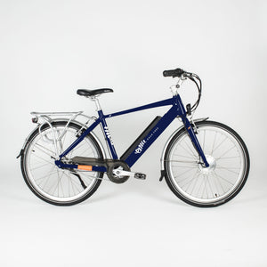 Emu Crossbar Electric Bike in Dark Navy Blue with Battery, 10.4Ah