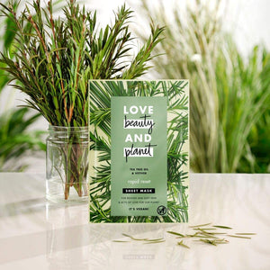 Love, Beauty and Planet - Vegan Sheet Face Maskh - Green Network Store UK