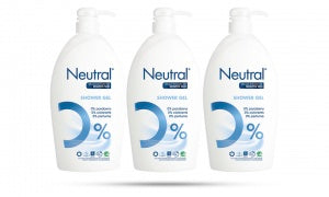 Neutral Shower Gel for Sensitive Skin 1L (Pack of 3)