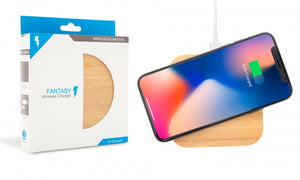 Wireless Charger Bamboo - Square