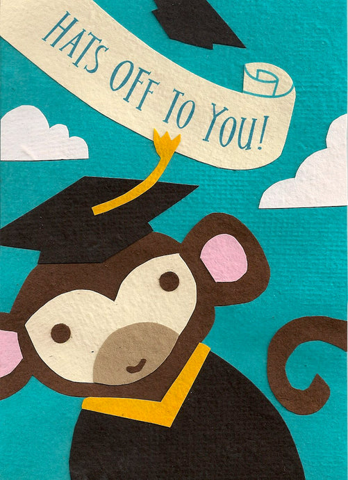 Congratulations Card - Best Wishes, Hats Off, Graduation