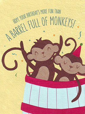 Birthday Card - Monkey Fun