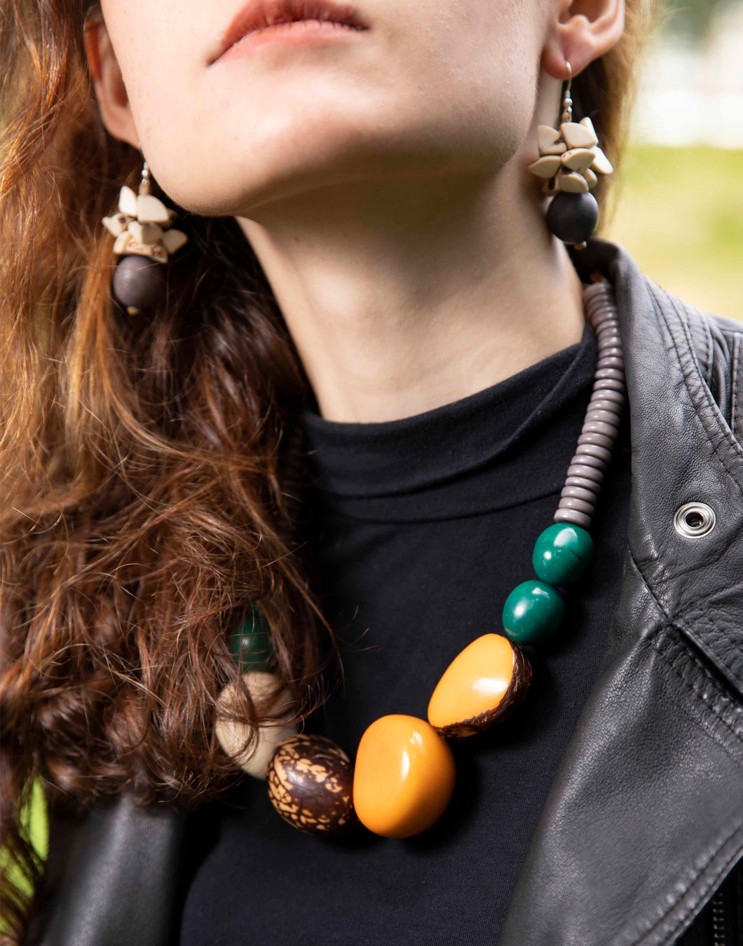 Luciana Tagua Nut Chunky Necklace