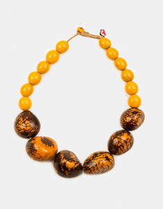 Organico Marble Tagua Nut Necklace