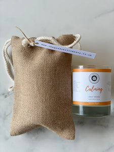 Organic Calming Candle (Wood Wick)