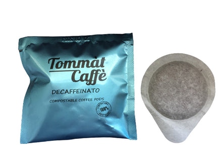 Compostable Coffee Pods Made in Italy - Decaf (Pack of 150)