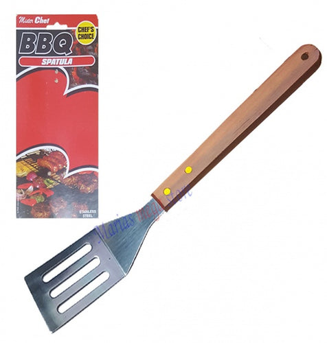 Deluxe BBQ Turner with Wooden Handle on Large Prtd Card