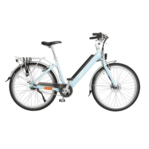 Emu Step Through Electric Bike in Blue with Battery, 10.4Ah