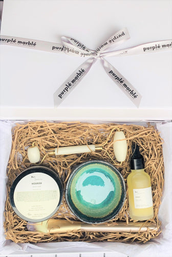 Facial Clay Mask Gift Set - Natural Vegan Facial Mask (5 Luxury Products)