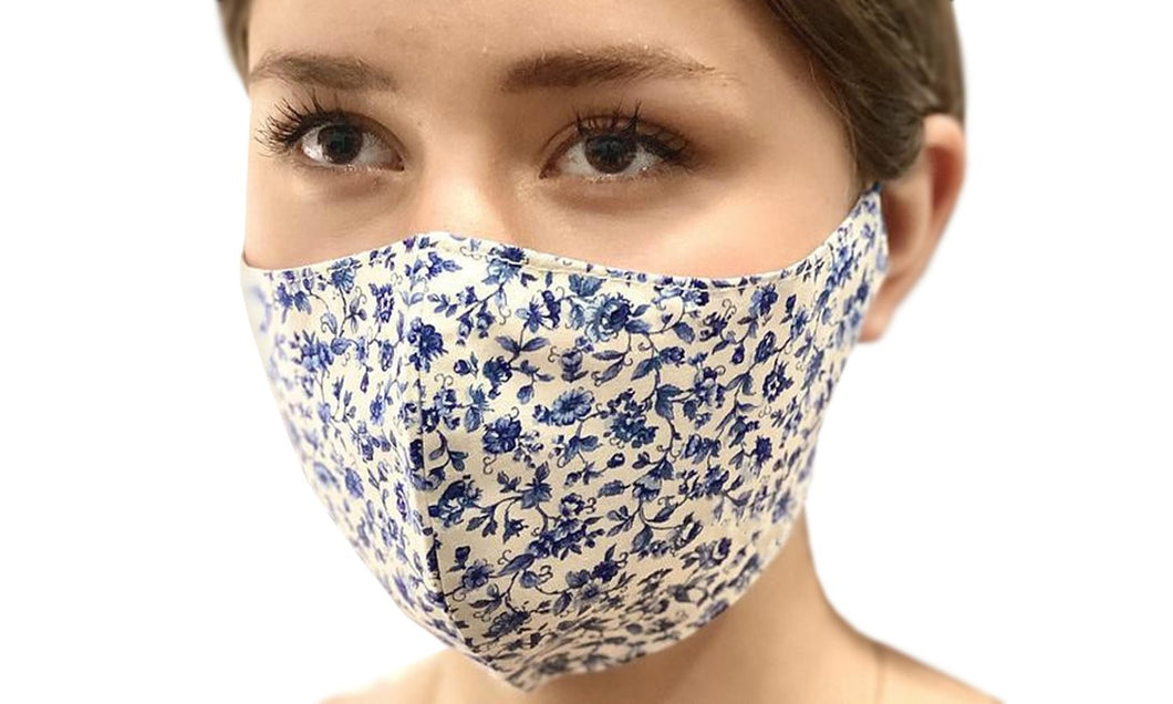Flower Print Cotton Mask