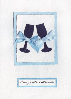Celebration Card - Happy Couple, Raise Our Glasses