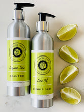 Load image into Gallery viewer, Organic Lime Shampoo & Conditioner Duo Set