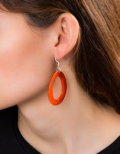 Loop Tagua Nut Earring