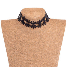 Load image into Gallery viewer, Lotus Recycled Rubber Statement Flower Choker