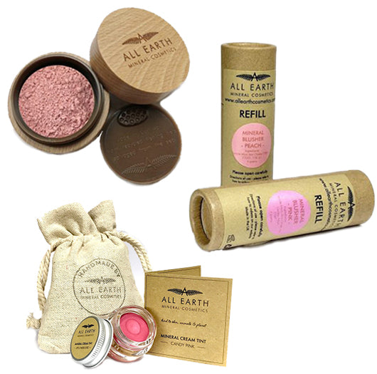 Mineral Blusher + Mineral Blusher Refill + Lips, Cheeks + Eye Tints