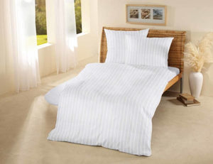 Organic Cotton Satin Stripe Duvet Cover