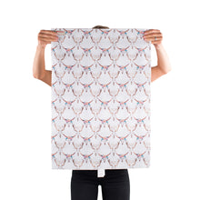 Load image into Gallery viewer, Reversible & Reusable Gift Wraps - Kaleidoscope & Adorned Antlers
