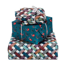 Load image into Gallery viewer, Reversible & Reusable Gift Wraps - Woven Ribbons & Red Breasts