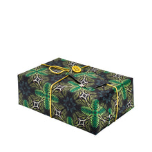 Load image into Gallery viewer, Reversible & Reusable Gift Wraps - Gentleman Stripes & Victorian Jungle