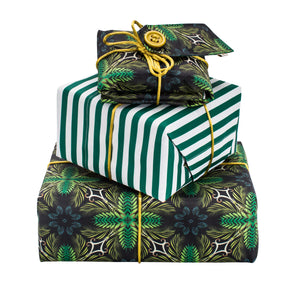 Reversible & Reusable Gift Wraps - Gentleman Stripes & Victorian Jungle
