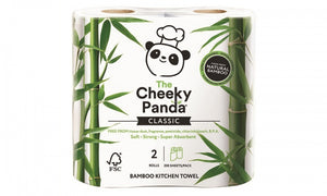 "10 Rolls ""The Cheeky Panda"" Bamboo Kitchen Towel"