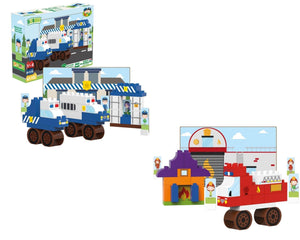 Police Station & Fire Department Playset