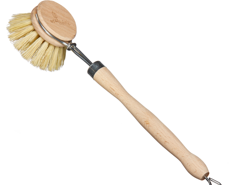 Eco Living - Wooden Dish Brush - Green NetworkStore UK