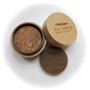 All Earth Mineral Cosmetics - Radiance Kit -Mineral Bronzer and Bronzer Kabuki Brush - Green Network Store UK