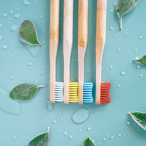 Bamboo Toothbrushes - Pack of 4