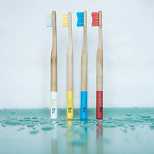 Load image into Gallery viewer, Bamboo Toothbrushes - Pack of 4
