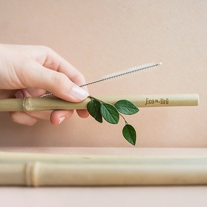 Bamboo Straw Single