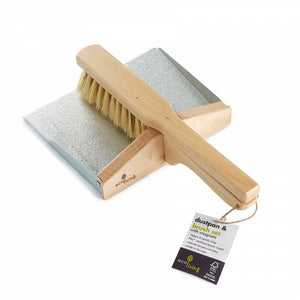Dustpan and Brush Set - with Magnets (100% FSC)