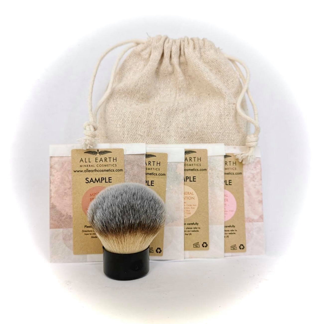 Mineral Cosmetics Sample Kit with Brush