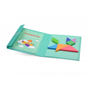 Tangram Educational Magnetic Wooden Puzzle - Green Network Store UK