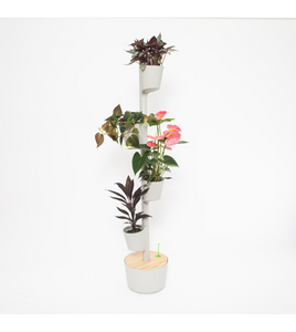 Vertical Planter 4 pots with Smart Kit