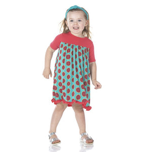 Neptune Watermelon Short Sleeve Swing Dress