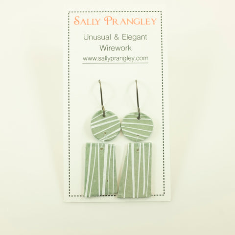 Sally Prangley- Pinstripe Earrings