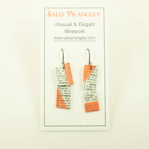 Sally Prangley- French Dictionary Earrings