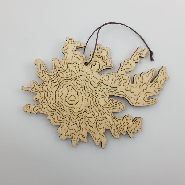 SML- Mt Rainier Topography Ornament